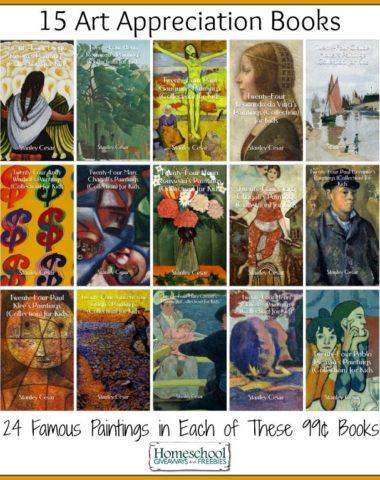 15 Cheap Art Appreciation Books for Kindle | homeschoolgiveaways.com