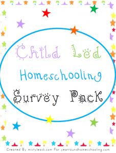ChildLedHomeschoolingSurveyPackCover