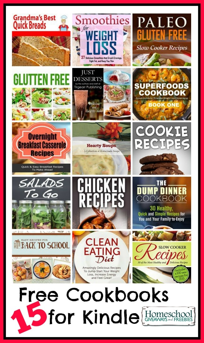 15 Free Cookbooks for the Kindle | homeschoolgiveaways.com