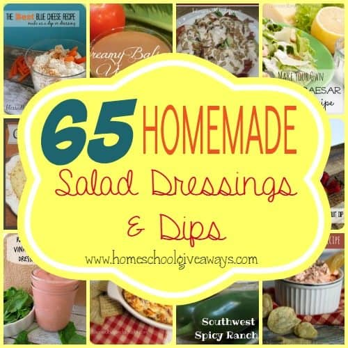 Summer is a great time for salads, so why not try some new and delicious Homemade Salad Dressings & Dips perfect for cookouts!! :: www.homeschoolgiveways.com