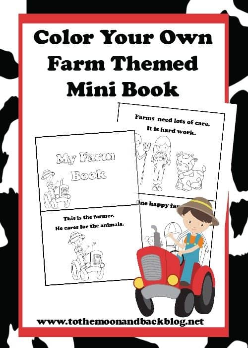 Mini Farm Themed Coloring Book – FREE Printable
