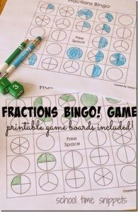 FREE Fractions BINGO! www.homeschoolgiveaways.com Make learning fractions fun with this BINGO game!