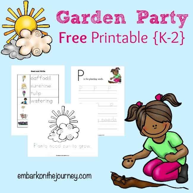 Free Garden Party Printables For Grades K 2