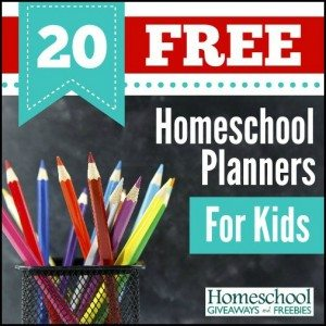 Homeschool Planners for Kids 1