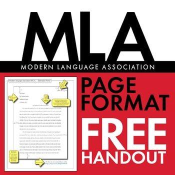 FREE MLA Paper Formatting Handout www.homeschoolgiveaways.com Helpful resource for MLA formatting!