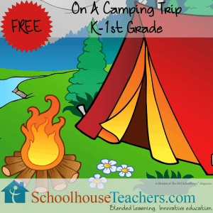On a Camping Trip Schoolhouse Teachers freebie