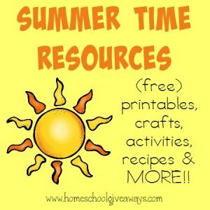 Summer is just around the corner!! Make the most of your summer days with these {free} printables, fun crafts & activities, new recipes and MORE!! :: www.homeschoolgiveaways.com