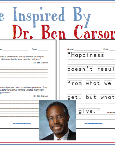 Dr. Ben Carson Quotes Copy Work www.homeschoolgiveways.com Learn more about ben Carson through copy work!