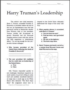 FREE Harry Truman Handout www.homeschoolgiveaways.com FREE handout to learn more about Harry Truman!