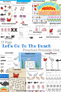 19-Page-Preschool-Printable-Unit-Lets-Go-To-The-Beach-Ocean-and-Beach-Themed-Pack-267x400