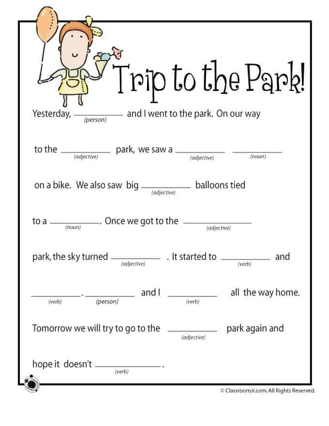 Refreshing image intended for free printable mad libs for kids