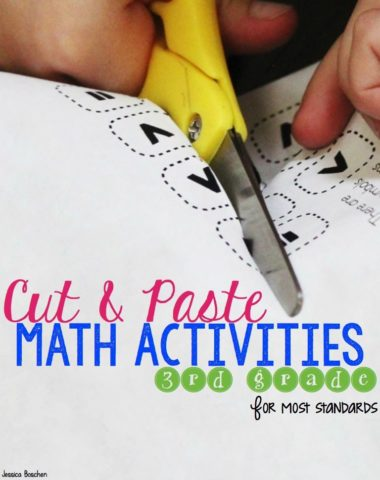 FREE Cut & Paste Math Activity Sample for 3rd Graders www.homeschoolgiveaways.com Grab this sample cut & paste math activity to help supplement your child's math lessons!