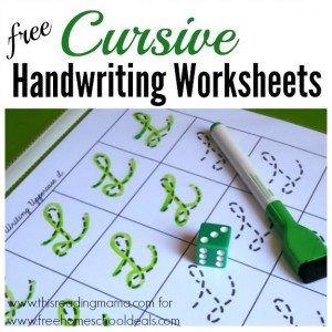 FREE Cursive Handwriting Sheets www.homeschoolgiveaways.com Grab these free handwriting sheets to get your kids started with cursive!!