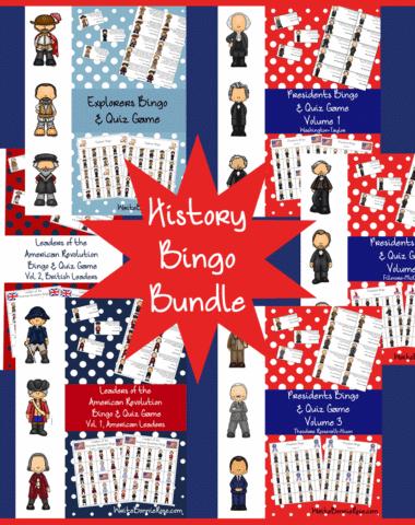 History Bingo Bundle on Sale