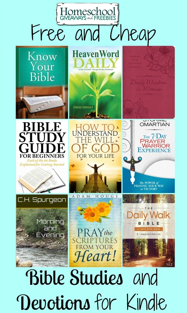 Free and Cheap Bible Studies and Devotions for Kindle | homeschoolgiveaways.com