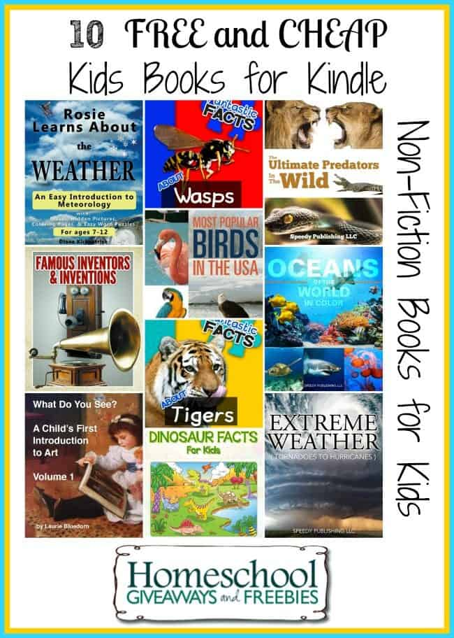 Free and Cheap Non-Fiction Kindle Books for Kids