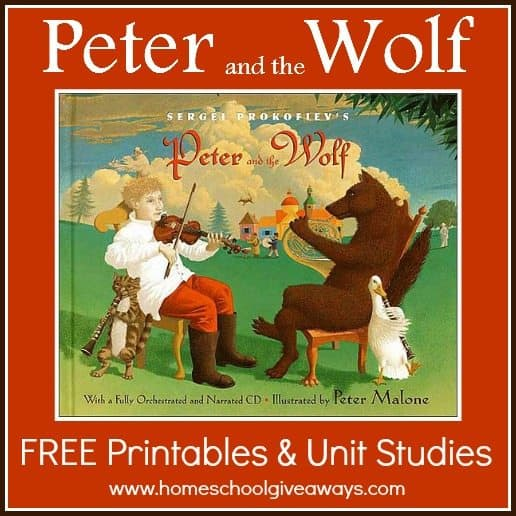 Peter and the Wolf FREE Printables and Unit Studies – Peter and the Wolf Worksheet