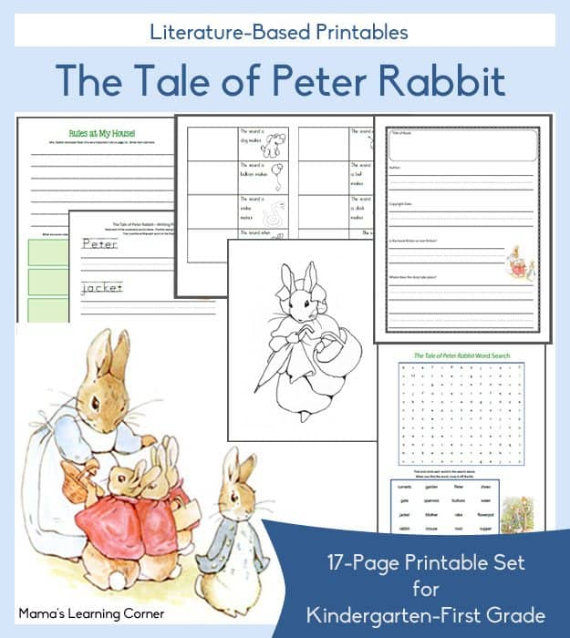 The Tale of Peter Rabbit FREE Printables