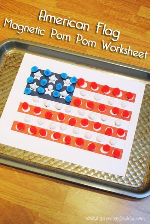 american-flag-magnetic-pom-pom-toddler-preschool-fine-motor-activity-worksheet-director-jewels-1