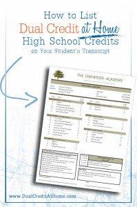 How to List Dual Enrollment Credits on Your Child's Transcript www.homeschoolgiveaways.com Great info for learning how to list your child's dual enrollment credits on his transcript!