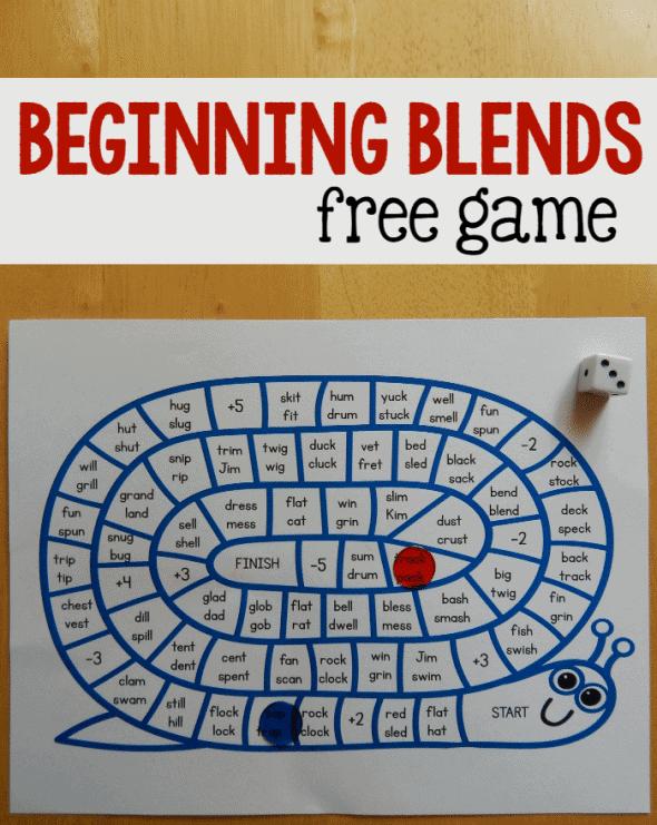 Beginning Blends Game – FREE Printable