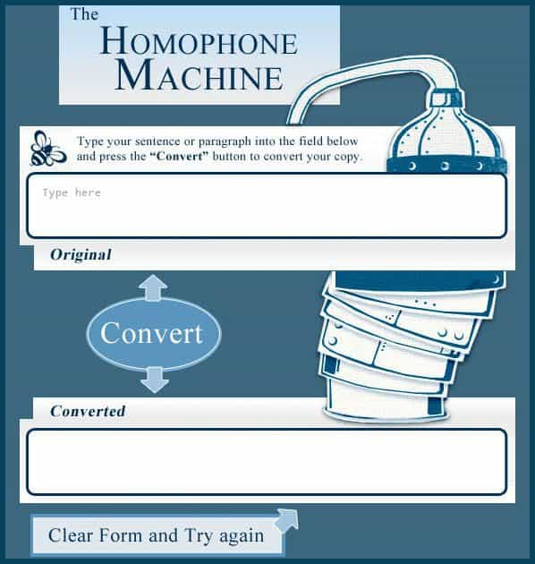 homophone-machine