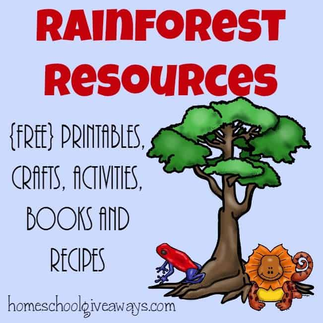 image relating to Rainforest Printable referred to as Rainforest Products ~ Printables, actions, recipes