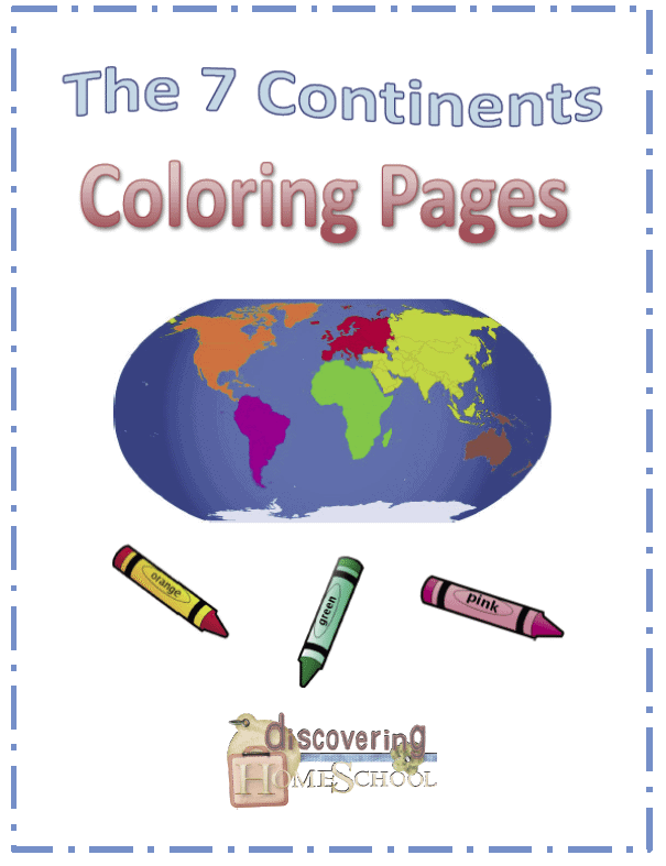 continent coloring pages The Seven Continents Coloring Pages   FREE   Homeschool Giveaways continent coloring pages