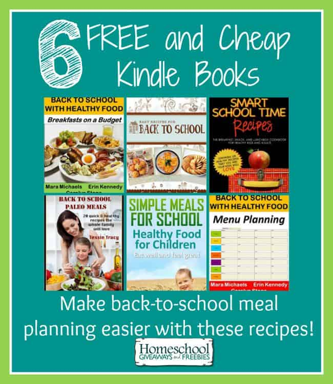 Make back-to-school meal planning easier with these  FREE and cheap Kindle recipe books. | homeschoolgiveaways.com