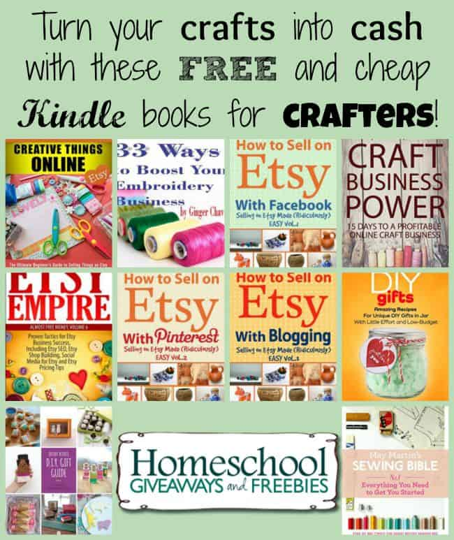 Turn your CRAFTS into CASH with these free and cheap Kindle books for crafters. | homeschoolgiveaways.com