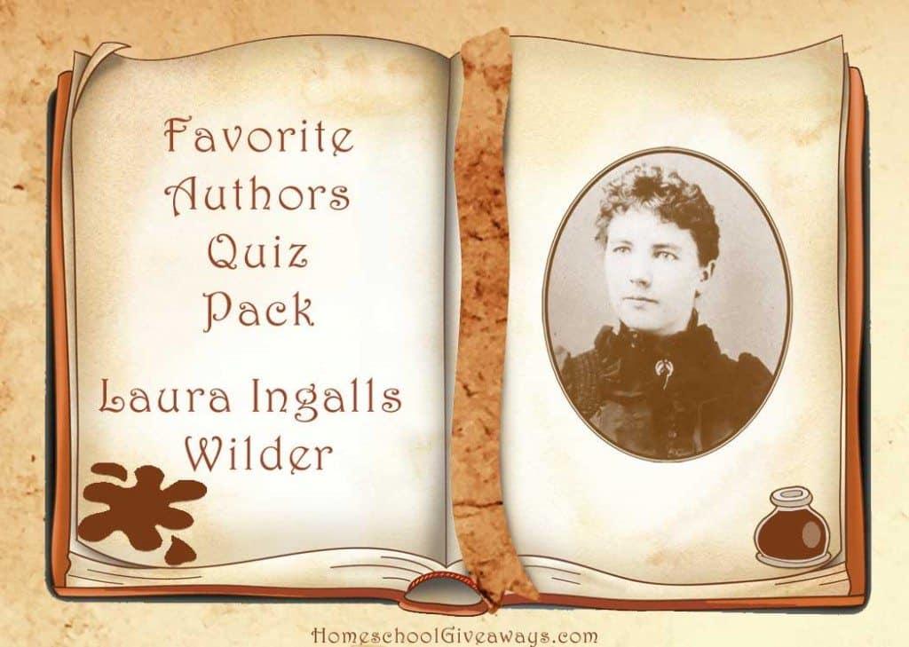 Favorite Authors Quiz Pack Laura Ingalls Wilder