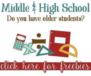 Middle School and Highschool Freebies