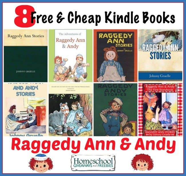 Free and Cheap Raggedy Ann & Andy Books on Kindle | homeschoolgiveaways.com