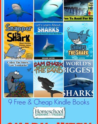 9 Free and Cheap Kindle Books for Shark Week | homeschoolgiveaways.com