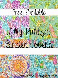 free printable lily pulitzer binder covers