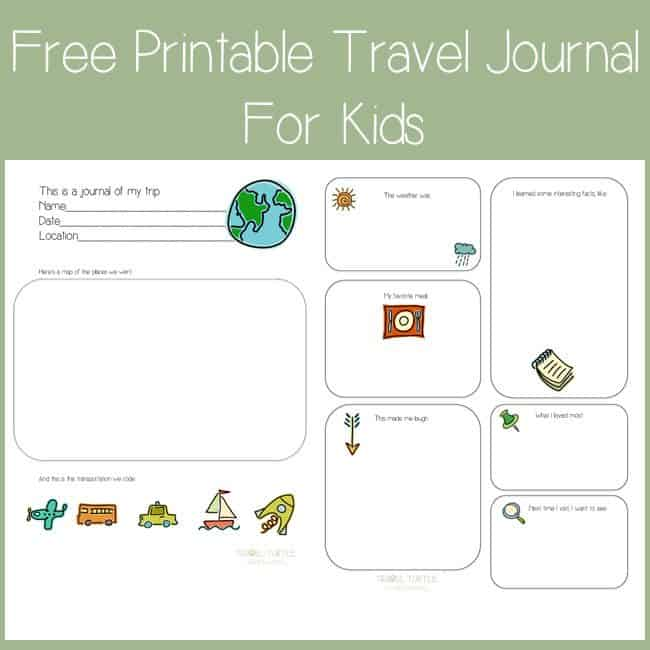 graphic regarding Travel Journal Printable titled Totally free Printable Push Magazine for Youngsters - Homeschool Giveaways
