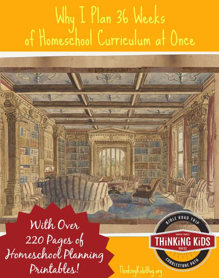 Why I Plan My Homeschool Year