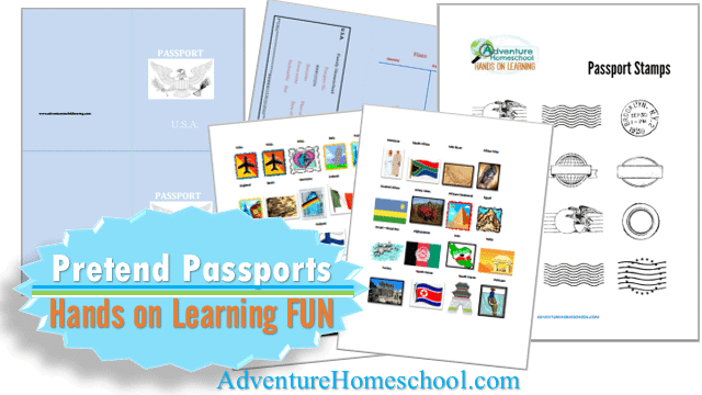 image about Passport Printable referred to as Bogus Participate in Pports - Cost-free Printable - Homeschool Giveaways