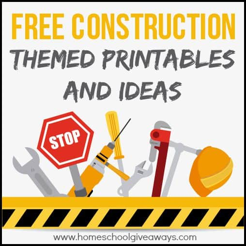 photograph about Free Printable Construction Signs identified as Free of charge Structure Themed Printables and Crafts - Homeschool