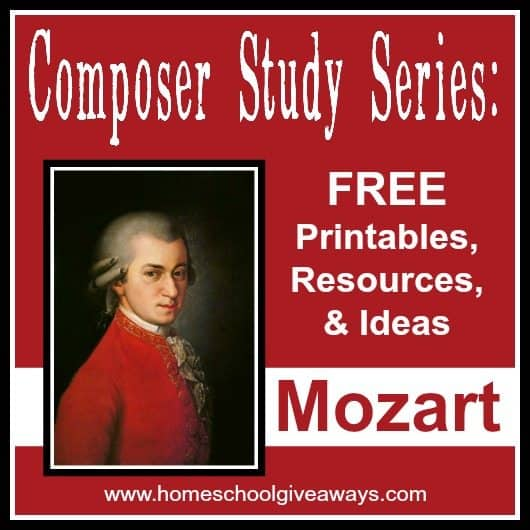 Mozart Lettere: Composer Study Series: FREE Printables, Resources And
