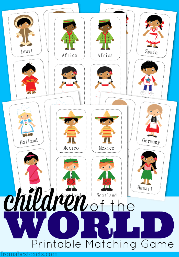 multicultural matching - Printable Pictures For Children