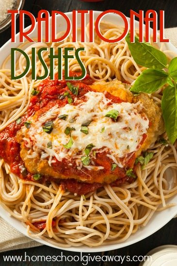 Do you love Italian food? Check out this HUGE list of Italian recipes - including soups, traditional dishes, Italian inspired dishes and desserts! :: homeschoolgiveaways.com