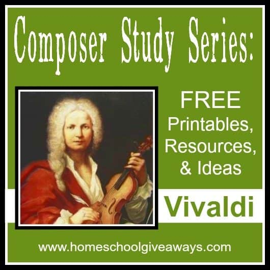 Composer Study Series: FREE Printables, Resources and Ideas: Vivaldi