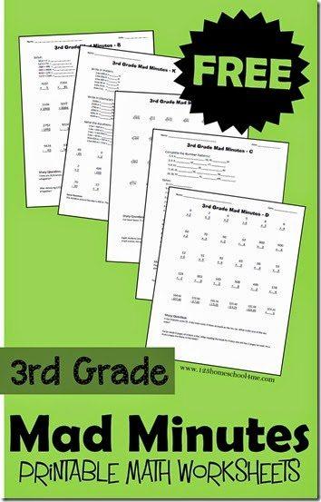 "FREE 3rd Grade ""Mad Minutes"" Math Worksheets"