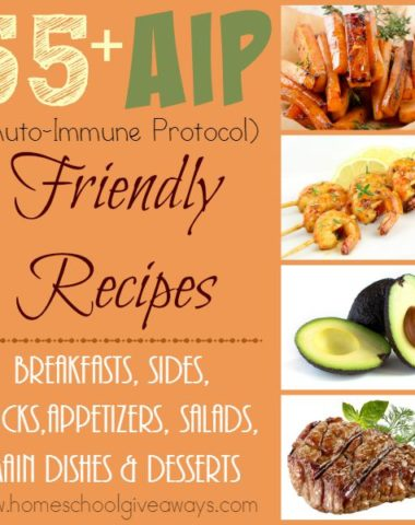 Do you have Auto-Immune Issues causing you problems? Check out these 55+ AIP Friendly Diet (Auto-Immune Protocol) recipes! :: www.homeschoolgiveaways.com