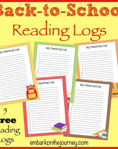 FREE Printable Back-to-School Reading Logs | homeschoolgiveaways.com