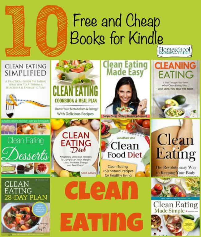 10 Free and Cheap Clean-Eating Books for Kindle | homeschoolgiveaways.com