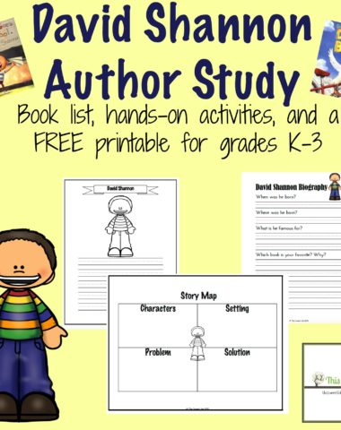 FREE David Shannon Author Study Printables
