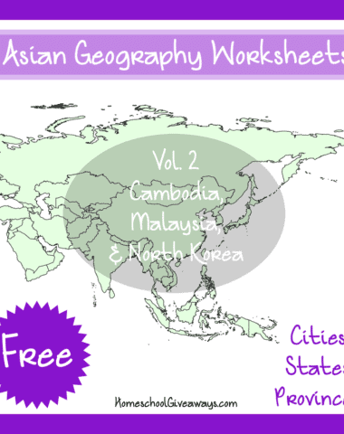 Free Asian Geography Worksheets Vol 2