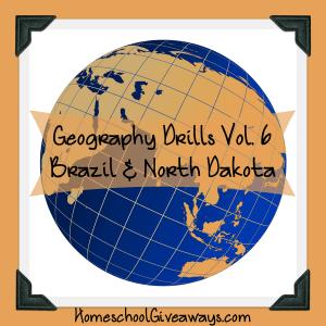 Free Geography Drills Volume 6 - Brazil and North Dakota